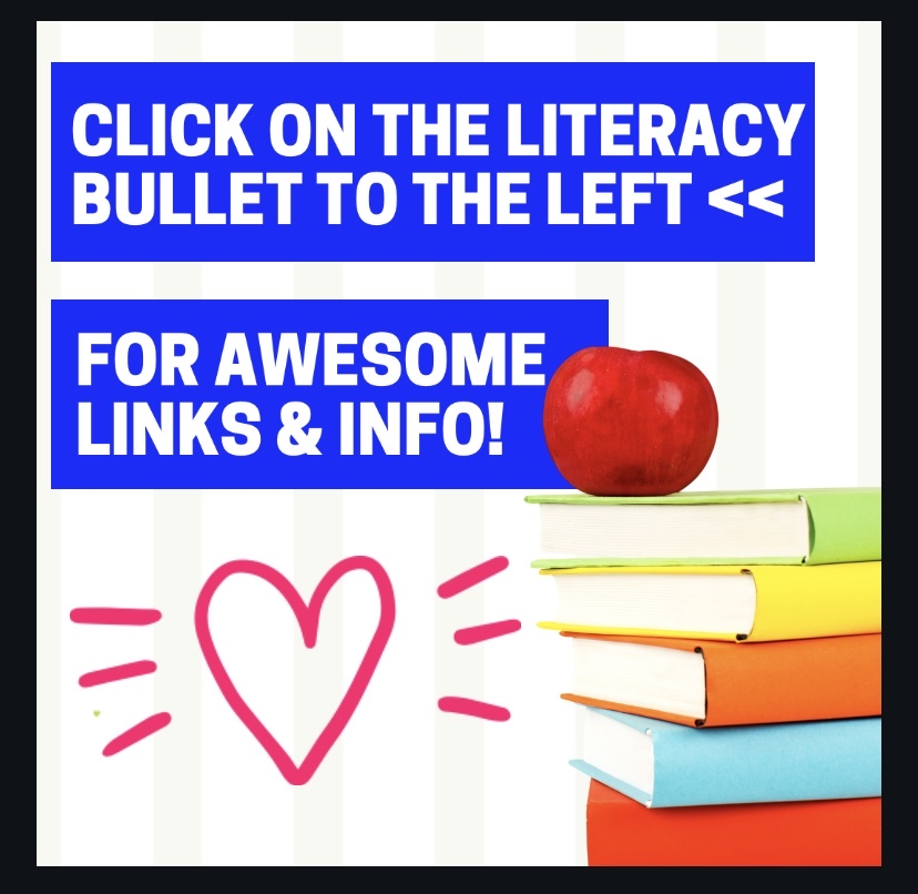 click on  the literacy bullet to the left